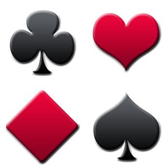 Farben der Doppelkopf Spielkarten